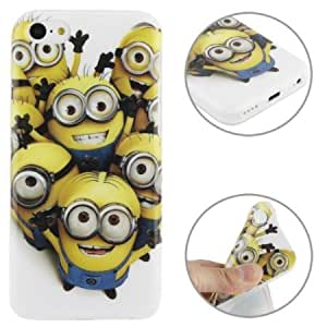 Cerhinu JUJEO Minions Pattern TPU Case for iPhone 5C - Non-Retail Packaging - Multi Color