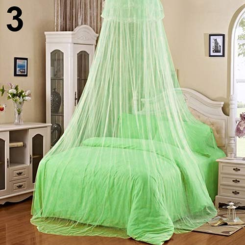 wiFndTu Elegant Lace Insect Bed Canopy Netting Curtain Round Dome Mosquito Net Bedding Beige 60cm by 260cm by 850cm