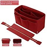 Purse Organizer Insert, Bag Organizer with For Tote and Handbag, LV, Goyard (X-Large, Red)