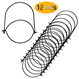 Bignc 12 Pack Black Stainless Steel Wire Handles Hangers for Regular Mouth Mason, Ball, Canning Jars