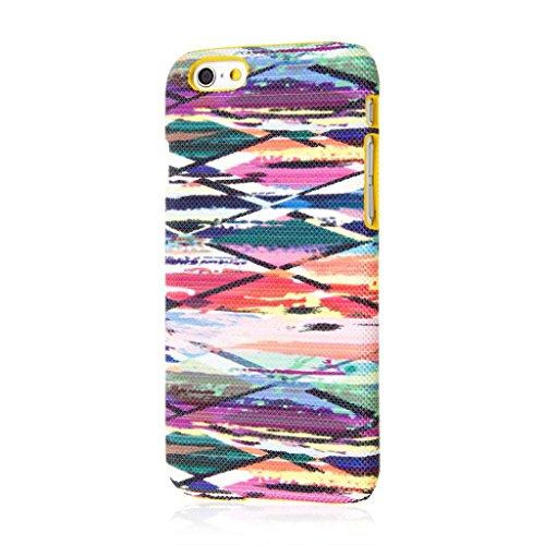 Empire Signature Series iPhone 6/6S Slim Fit Phone Case - Raised Accented Edges, Diamond Knit Fabric - Blurred Lines