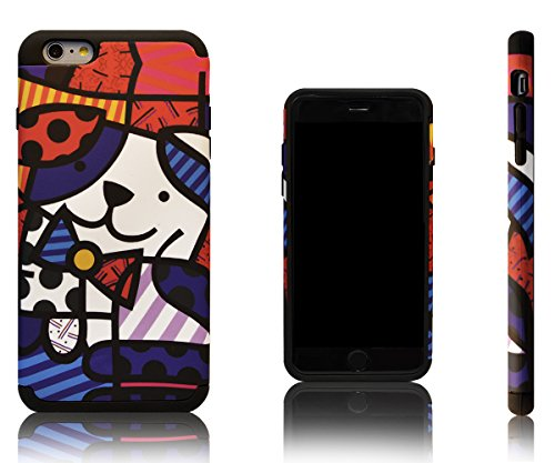 Xcessor Smile Two Part Protective Case with Soft Inner Silicone Layer and Hard Plastic Shell for Apple iPhone 6 Plus. Multi-coloured / Black