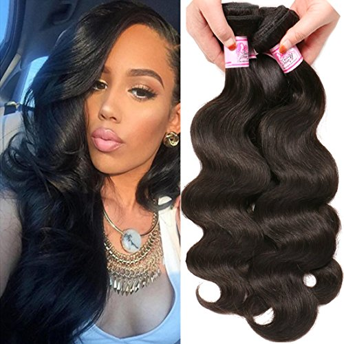 Beauty Forever Indian Body Wave Hair 3 Bundles Hair Extensions 100% Unprocessed Human Virgin Hair Weaves Natural Color 95-100g/pc (18 20 22)