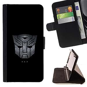 KingStore / Leather Etui en cuir / Apple Iphone 5C / Máscara Mech Transf0rmer
