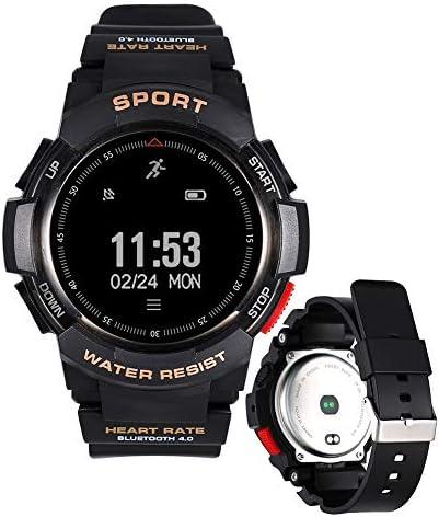 スポーツスマートウォッチGPS追跡ブレスレット歩数計心拍数と睡眠モニタリング座りがちなリマインダーストップウォッチ目覚まし時計深い防水AndroidおよびIOSとの互換性,黒