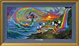 Mickey And The Boys At Rainbow Falls by Jim Warren - Disney Fine Art Silver Series Framed Giclee
