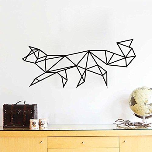 BIBITIME Paper folding Style Geometrical figure Dog Wall Decal Vinyl Geometry Animal Sticker for Nursery Bedroom Kids Room Decor Classroom Window PVC Art Decorations