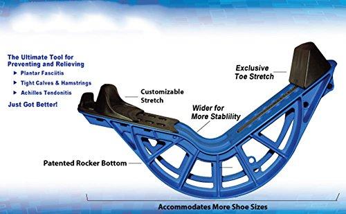 ProStretch Plus, Blue, Adjustable Calf Stretcher & Foot Rocker for Plantar Fasciitis, Achilles Tendonitis, Flexibility (Slip Resistant Bottom) by ProStretch (Image #4)