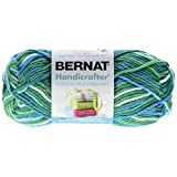 Bernat Handicrafter Cotton Yarn, Ombre, 1.5 Ounce, Emerald Energy