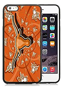 iPhone 6 Plus 5.5 Inch TPU Case ,Unique And Fashionable Designed Case With NCAA Big 12 Conference Big12 Football Texas Longhorns 18 Black For iPhone 6 Plus Cover Phone Case