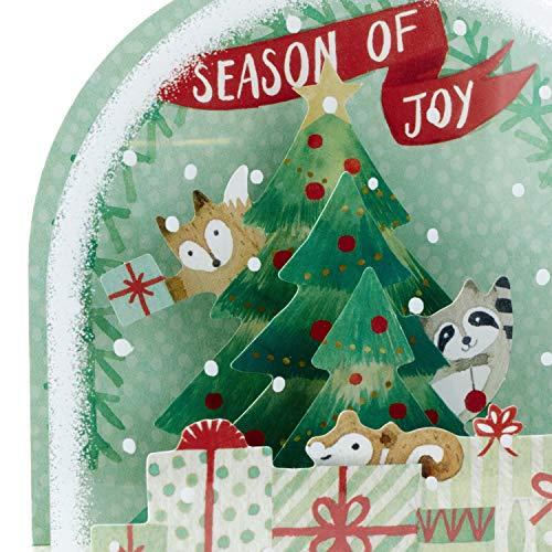 Hallmark Paper Wonder Pop Up Christmas Card Snow Globe (Woodland Creatures) Photo #10
