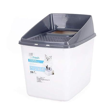 CJZ BOX Baño de Mascotas Bandeja de Basura para Gatos Baño para Mascotas Lavabo Desodorante Grande