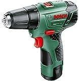 Bosch EasyDrill 12-2 - Taladro atornillador a batería (12 V, 1 batería, cargador, 2 velocidades, Power for all, 2,5 Ah, Maletín, punta de atornillar)