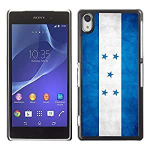 Shell-Star ( National Flag Series-Honduras ) Snap On Hard Protective Case For SONY Xperia Z2 / D6502 / L50W