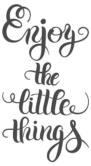 Wandtattoo Spruch Enjoy The Little Things Schriftzug Auf Englisch Wanddeko Wan