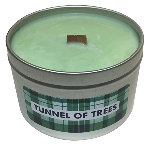 Wooden Wick Scented Candle   Pine and Fresh Air Scent (Tunnel of Trees)   Highly Scented Crackling Luxury Soy Candle, 8 ounce Tin