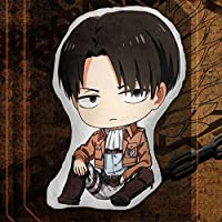 Haushele OFD Ataque de Anime japonés Gigante Anime Levi· Ackerman Doble Cara Q Versión Cojín de Peluche Tokyo Ghoul Figura Humana Cartoon Rem Muñeca ...