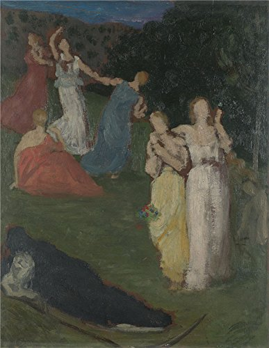 Oil Painting 'Pierre Cecile Puvis De Chavannes Death And The Maidens' 30 x 39 inch / 76 x 99 cm , on High Definition HD canvas prints is for Gifts And Home Office, Kids Room And Laundry Room decor