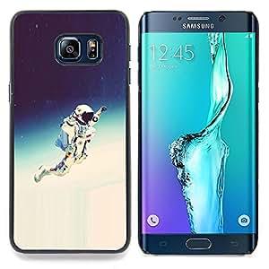 SKCASE Center / Funda Carcasa protectora - Espacio Astronauta Hipster;;;;;;;; - Samsung Galaxy S6 Edge Plus / S6 Edge+ G928