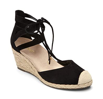 0615fce3a83 Vionic Women's Aruba Calypso Lace Up Wedges – Ladies Platform Heel  Espadrilles with Concealed Orthotic Support