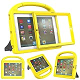 Surom Kids Case with Built-in Screen Protector for iPad 4, iPad 3 & iPad 2, Shockproof Convertible Handle Stand Case Cover for iPad 2nd 3rd 4th Generation - Canary Yellow