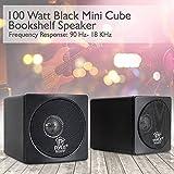"3"" Mini Cube Bookshelf Speakers - 100W Small"