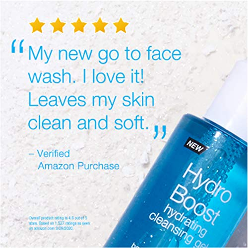 Neutrogena Hydro Boost Lightweight Hydrating Facial Cleansing Gel for Sensitive Skin, Gentle Face Wash & Makeup Remover…