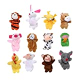 GogoForward 12 Chinese Zodiac Finger Puppets Kids Educational Hand Toy Story Toy for Boy Girls