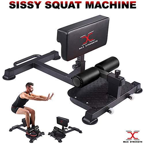 MAXSTRENGTH Sissy Squat Machine Bench Leg Machine Heavy Duty Fitness Gym Sports