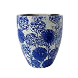 Newly Designed old world vintage blue and white ceramic garden pot 144268M-Q40 (Tall)