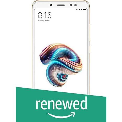 Renewed  Redmi Note 5 Pro  Gold, 4 GB RAM, 64 GB Storage  Smartphones