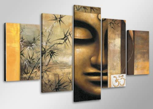 Visario Picture 6410 on Canvas Length 40 Height 20 Buddha Pictures Ready to Hang Framed, Brand Original