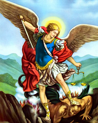 amazon saint michael the archangel angel san miguel arcangel印刷