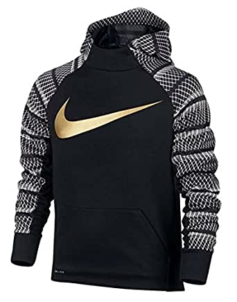 Amazon.com: Nike Boys Therma AOP Hoodies (Medium, Black ...