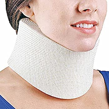 FLA Orthopedics 10-131SMBEG Cervical Collar Regular Density 3.25 In. Beige, Small