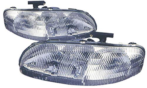For 1995 1996 1997 1998 1999 2000 2001 Chevrolet Chevy Lumina | Monte Carlo Headlight Headlamp Driver Left and Passenger Right Side Pair Set Replacement GM2502139 GM2503139
