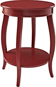 Powell Furniture Powell Round Shelf, Red Table (.! (Red))