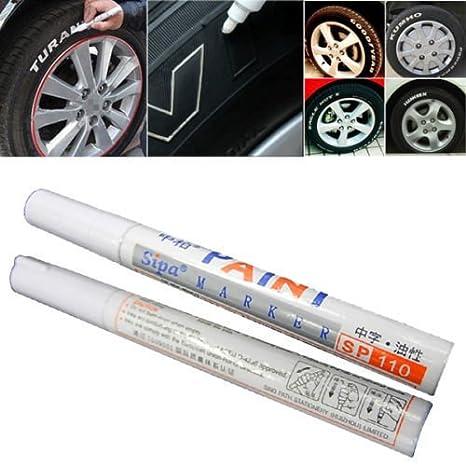 12pcs Universal Waterproof Permanent Auto Car Tire Tread Marker Paint Pen Metal