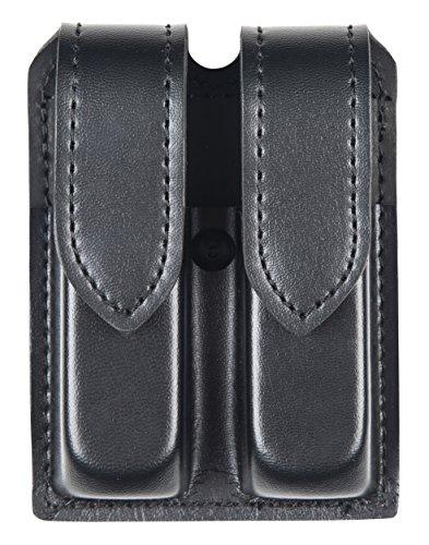 Safariland Duty Gear Glock 17 Hidden Snap Double Handgun Magazine Pouch (Plain Black)