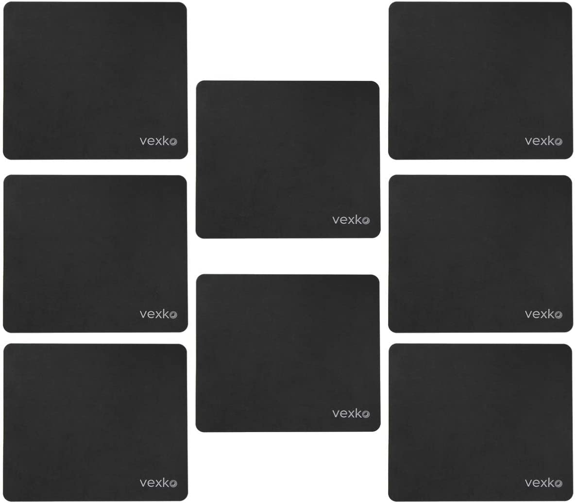 Non-Slip Base Computer Keyboard Mousepad Mouse Mat Vexko Gaming Mouse Pad Water-Resistant 12.5 X 11 Inch Perfect for Gaming 8 Pack