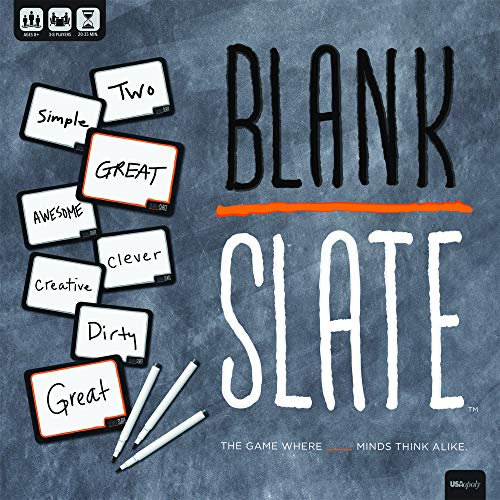 Lightweight Slate - USAOPOLY Blank Slate - The Game Where Great Minds Think Alike | Fun Family Friendly Word Association Party Game | The Best Choice for Game Night! | 3-8 Players Ages 8+