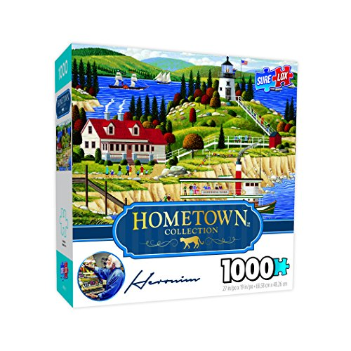 Surelox Hometown - Owls' Headlight Jigsaw Puzzle (1000pc) Cottage 1000pc Jigsaw Puzzle