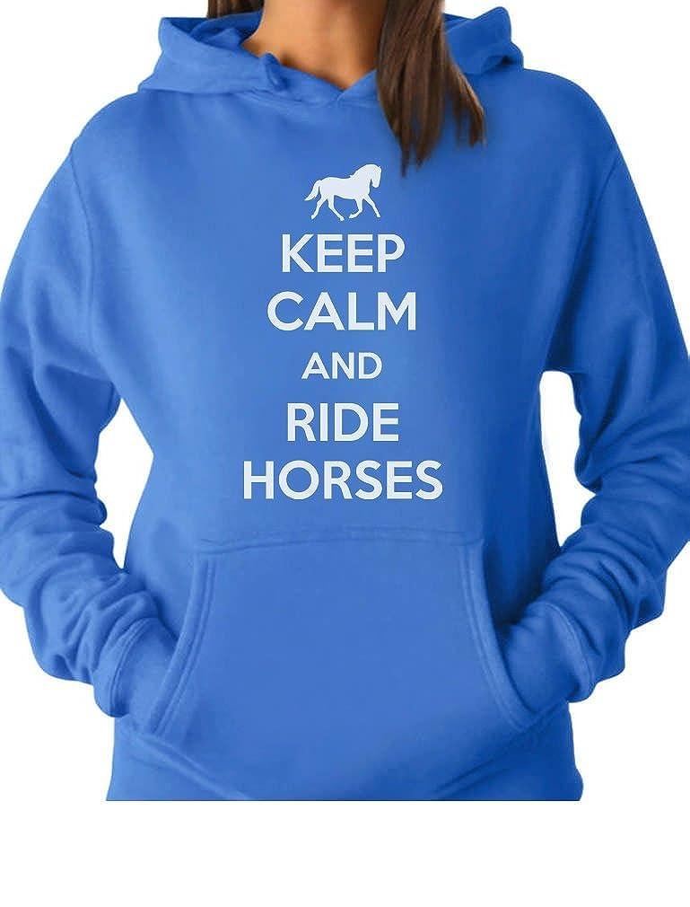 Tstars - Keep Calm Ride Horses - Horse Lover Riding Women Hoodie GhPh33tgK