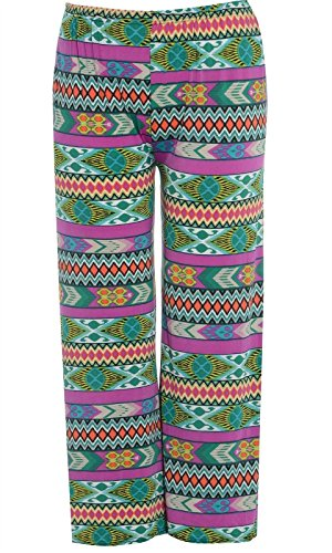 Aztec Green Size vase 54 palazzo Femmes parallles Plus pantalon pantalons Led Large 36 imprims 7qwgqOY