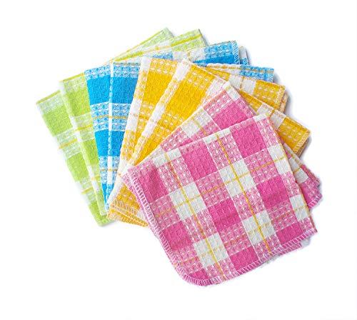 Honla Cotton Windowpane Kitchen Dish Cloths,Set of