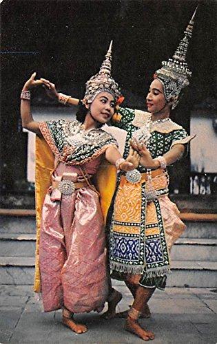 Siamese Court Dancers in Costume Bangkok Thailand (Thailand Dancers Costumes)