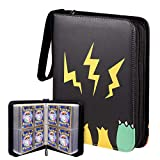 Geecow 4-Pocket Binder Compatible with Pokemon