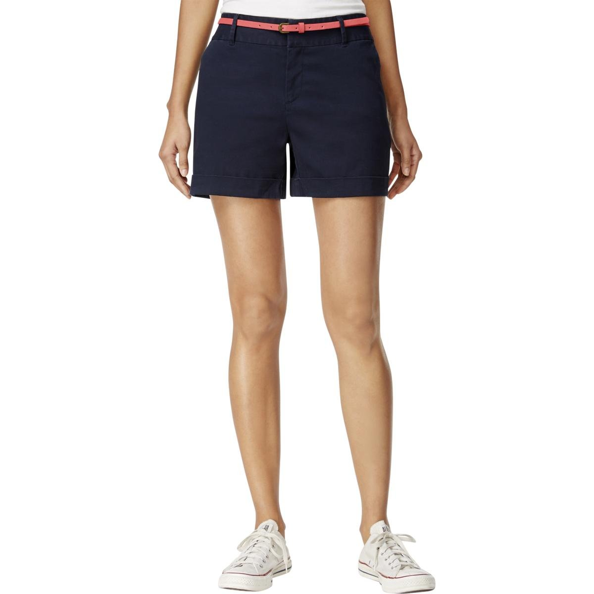 Maison Jules Women's Maddie Relaxed Belted Shorts (10, Sky Captain)
