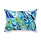 SkuGo pillow shams of geometry 16 x 24 inches / 40 by 60 cm,best fit for saloon,father,family,kids girls,car,play room both sides