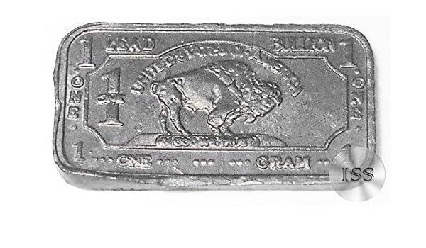 1 gram brass buffalo bar
